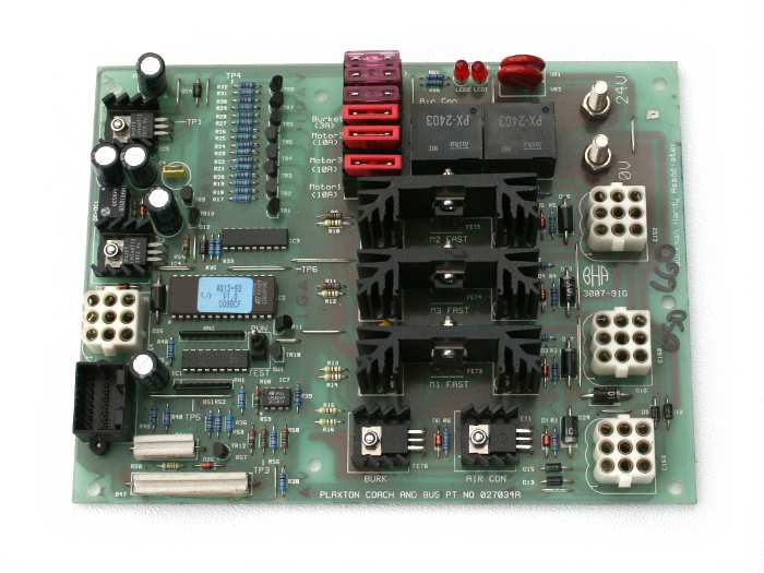 Plaxton Heat and A/C PCB Panel